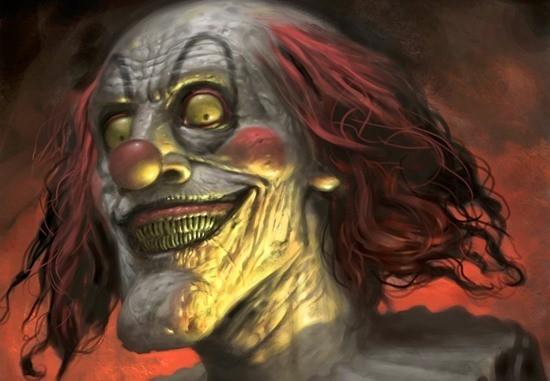 Гниющий клоун страшилка читать картинка