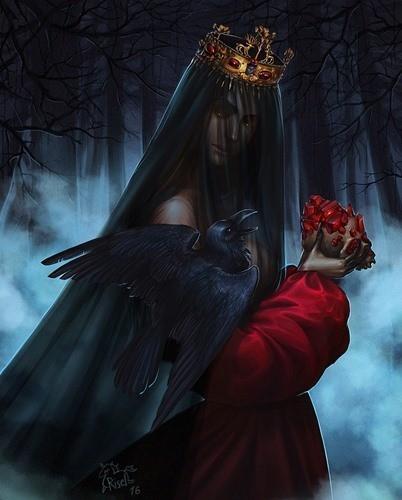 Королева-ведьма страшная сказка картинка