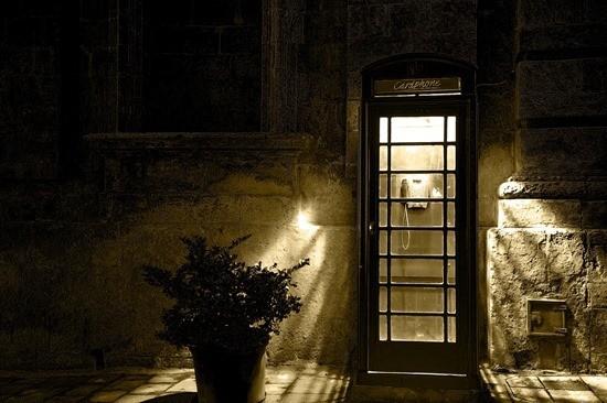 Телефонная будка страшилка