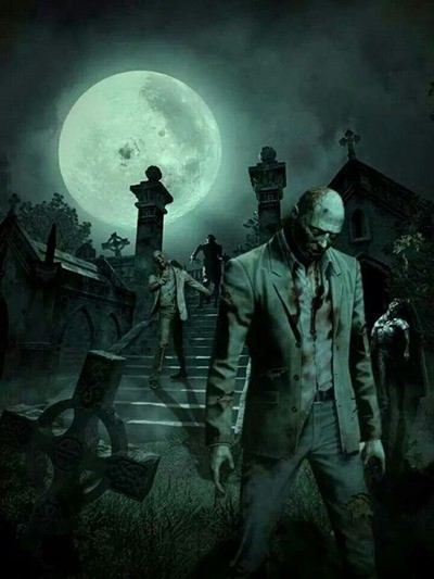 зомби на кладбище фото