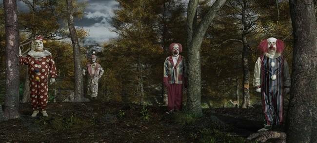 Страшные клоуны фото
