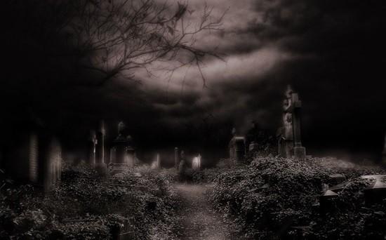 кладбище ужас страх фото