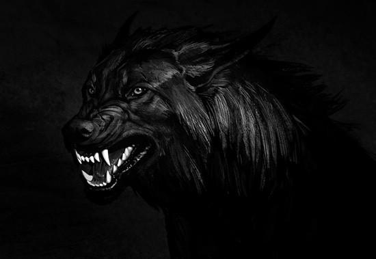 черный волк страшилка фото