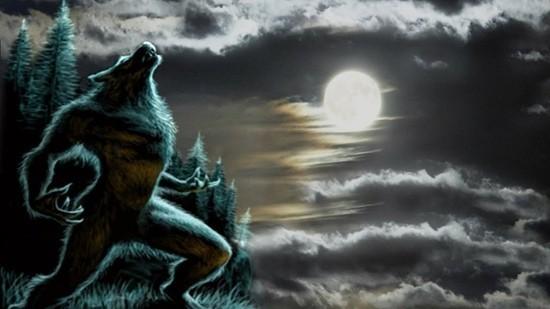 оборотень воет на луну
