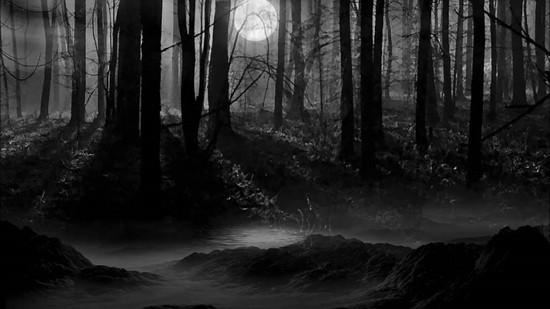 В чёрном-чёрном лесу страшилка