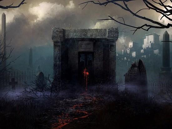 страшилка про склеп на кладбище