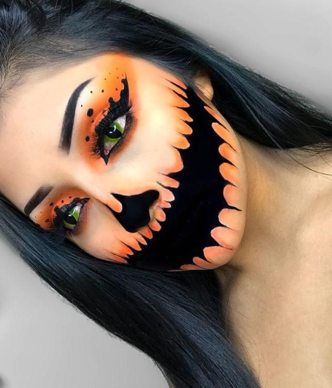 Рисунок для хэллоуина на лицо