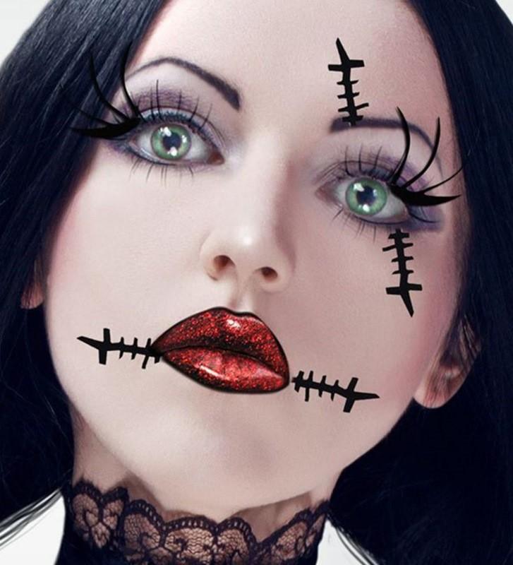 картинки для рисования на лице на хэллоуин ждёт интересная