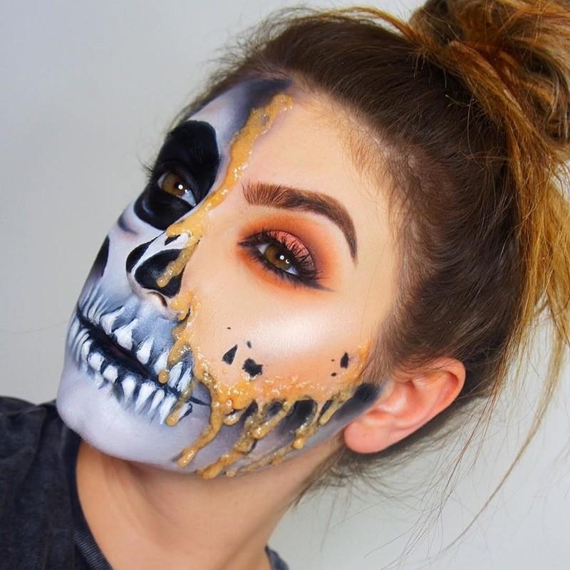 картинки для рисования на лице на хэллоуин этой фотографии цвет