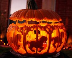 тыква на Хэллоуин фото (14)