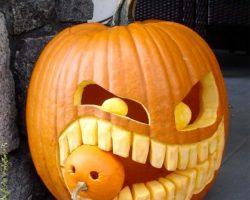 тыква на Хэллоуин фото (55)