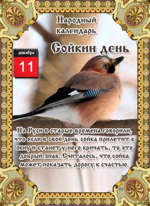 11 декабря народный календарь