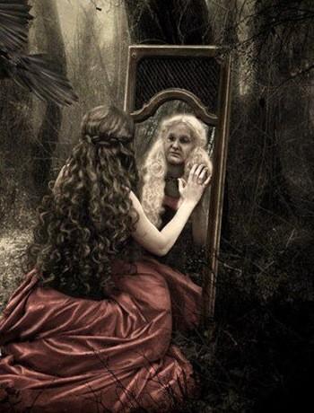 ведьма в зеркале старая