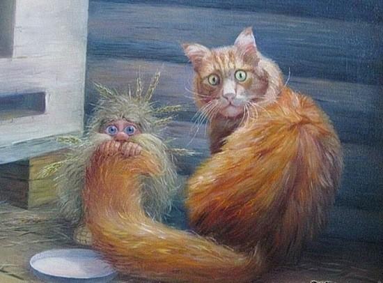 кошка и домовой фото
