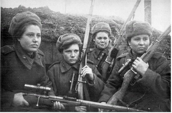 девушки в войну