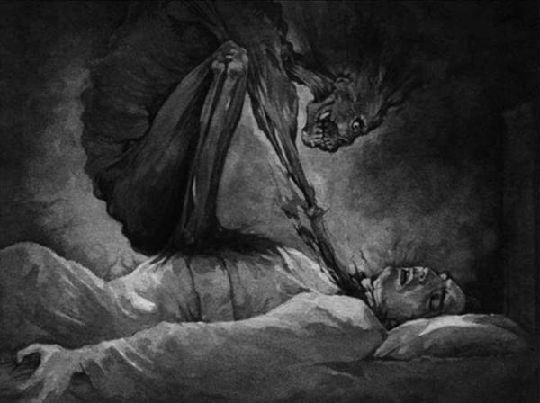 демон душит человека во сне