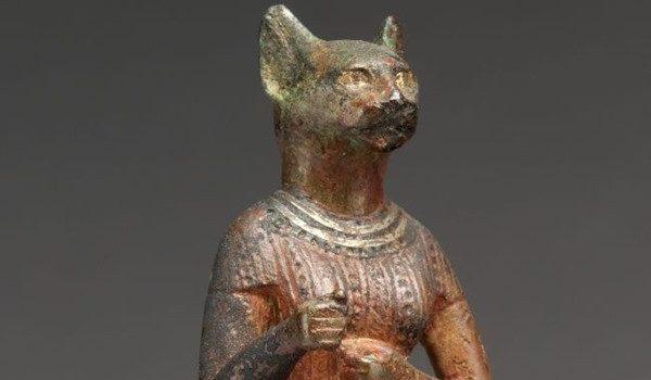 Bastet, 664–30 B.C. Egyptian, Late Period–Ptolemaic Period Bronze