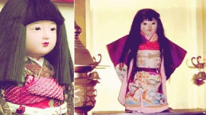 кукла Окику с растущими волосами