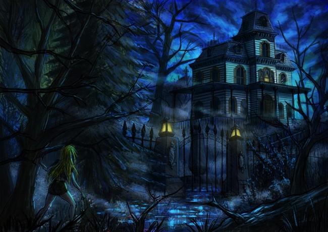 старинный мрачный дом